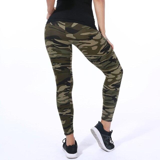 Yoga Pants Elastic Sport Camouflage Leggings 3D Print Thin Fleece Slim Jeggings 6