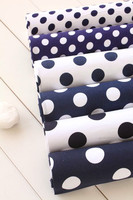 5pcs 48cm*50cm Blue 100% Cotton Fabric for Sewing DIY Quilting Patchwork Tilda Doll Cloth Tissue Kids Bedding Textile