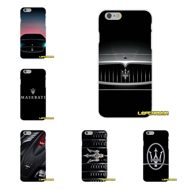 on sale bbfc0 e887a US $0.99 |super car Maserati Soft Silicone phone Case For iPhone X 4 4S 5  5S 5C SE 6 6S 7 8 Plus-in Half-wrapped Cases from Cellphones & ...
