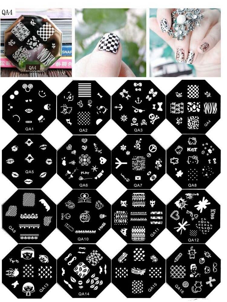 Thời Trang QA1 QA64 Dễ Thương Mẫu Hoạt Hình Móng Tay Nghệ Thuật Tem Tiêu Bản Hình Ảnh Tấm Móng Tem Truyền Vuông Móng Dập Tấm 10 Chiếc|stamping plate 10pcs|nail stamping platesstamping plates - AliExpress