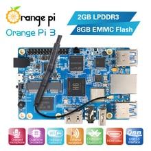 Oranje Pi 3 H6 2Gb LPDDR3 + 8Gb Emmc Flash Gigabyte Ethernet Poort AP6256 Wifi BT5.0 4 * USB3.0 Ondersteuning Android 7.0, ubuntu, Debian
