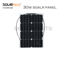 30W Semi Flexible Solar Panel Solar Module For RV Boat Golf Cart Marine Yachts Home Use