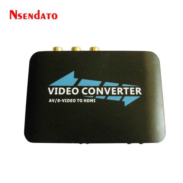 1080 P AV И S-Video для HDMI Конвертер для DVD на HD TV HDTV Подключения AV2HDMI Конвертер Адаптер