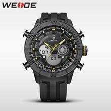 купить WEIDE genuine luxury brand analog sport watch digital led clock men Silicone quartz waterproof watch electronic wrist watch box по цене 1220.96 рублей