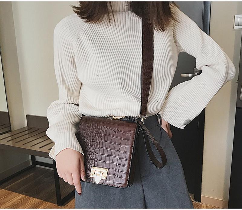 DIINOVIVO Fashion Alligator Female Handbags Designer Crossbody Bags for Women Small Square Bag Shoulder Messenger Purse WHDV0917 7
