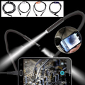 7mm Lens 1M Android OTG Phone Endoscope IP67 Borescope Tube LED Camera Silver