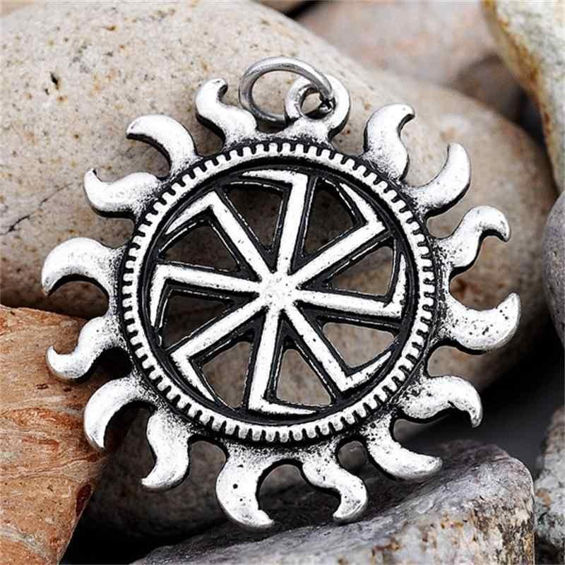 Коловрат в солнечный кулон языческие украшения Шарм Подвеска славянский оберег античное серебро