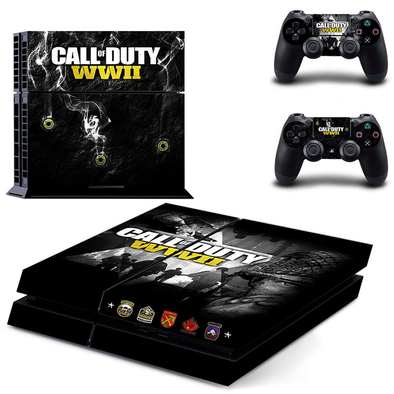 HOMEREALLY PS4 Skin Classic Call of Duty WWII PVC HD Sticker For PlayStation 4 Console and Controller Skin Ps4 Accessory Sticker