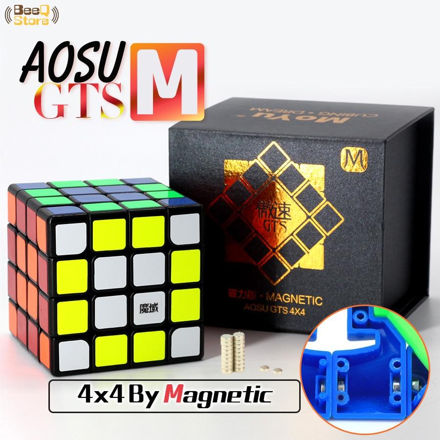 4x4 Moyu Aosu Gts M Cube magique vitesse magnétique Cube Puzzle professionnel compétition jouet pour enfants avec aimants Magico Cubo