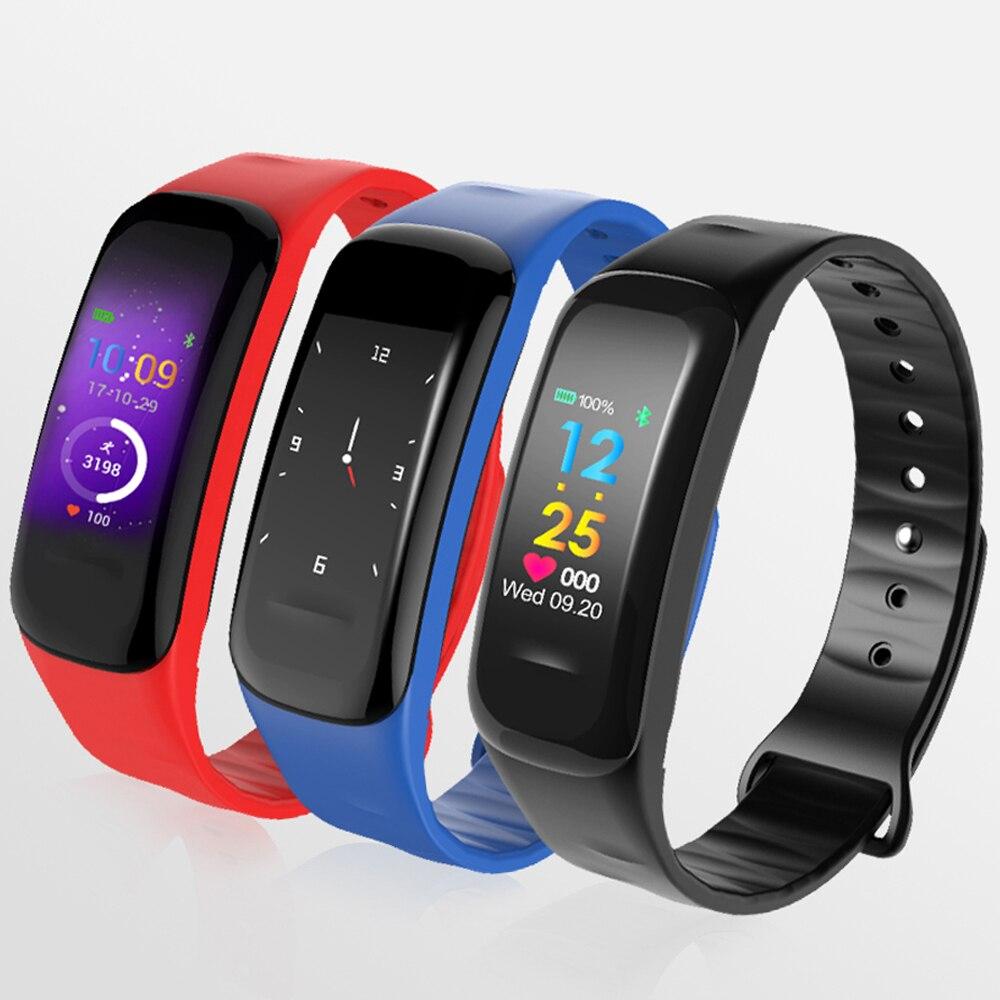 GIMTO Bluetooth Smart Bracelet Sport Men Women Digital LED Clock Blood Pressure Heart Rate Blood Oxygen Monitor For iOS Android