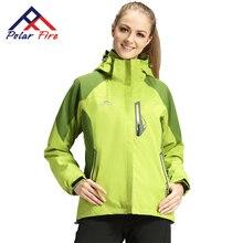 Фотография Polar Fire 2017 design 3 in 1 outdoor sports hiking jackets for women mountaineering waterproof windproof inner fleece ski suits