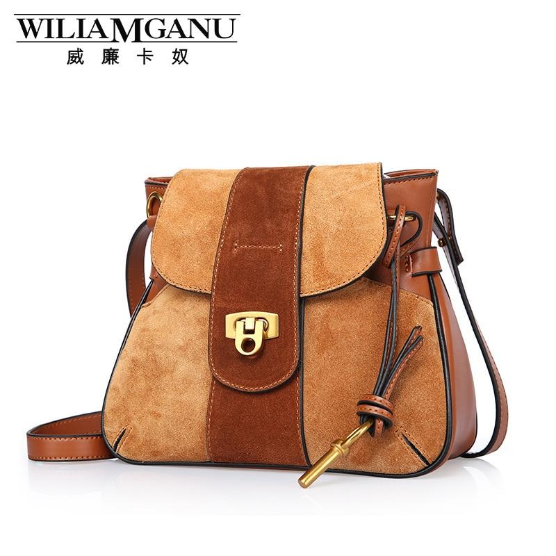 ФОТО WILIAMGANU Vintage women crossbody bags mini messenger bag saddle Genuine Leather high quality cover bag famous design