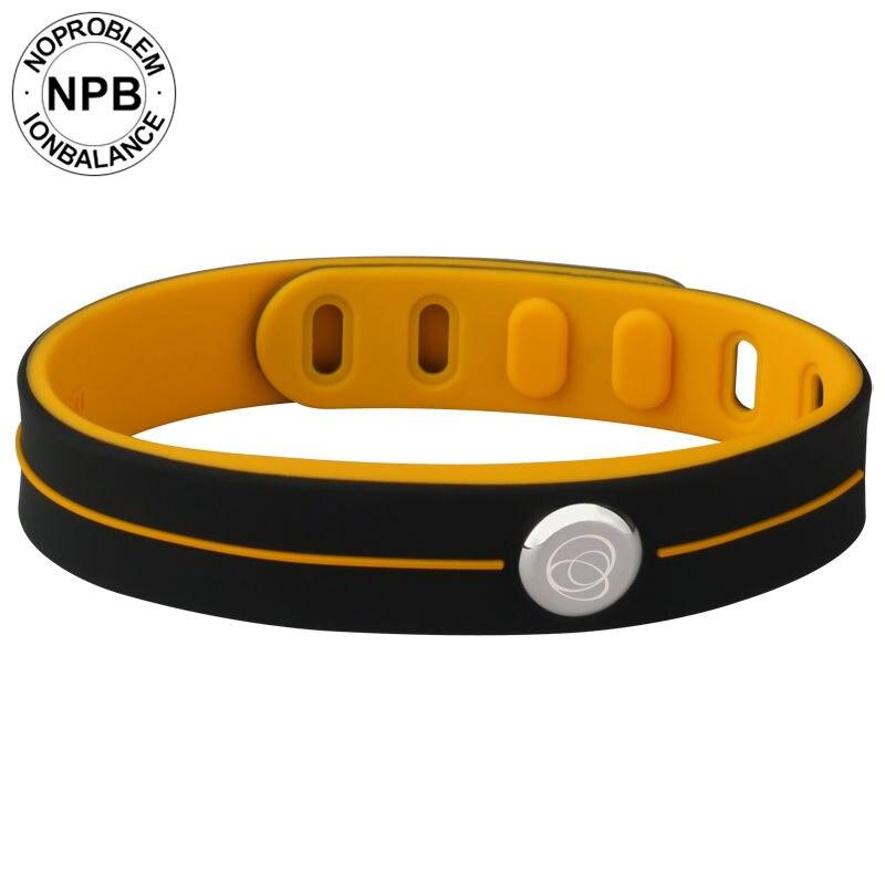 Noproblema moda inteligente 3000 íons à prova dwaterproof água esportes de borracha energia saúde gargantilha turmalina germânio banda pulseira