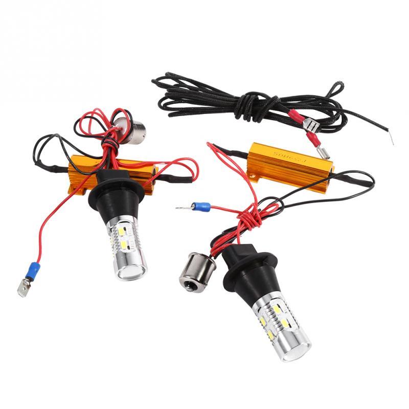 2pcs Led Turn Signal Light 1156 Dual Color Switchback Led