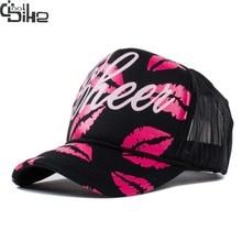 Fashion Sexy Red Lip Snapback Baseball Hats For Women Snapback Caps gorro feminino Women Cap Summer Lady Vogue Hat Adjustable