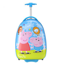 Childrens pull rod box factory direct sales box gift box gift box square four  round cartoon suitcase