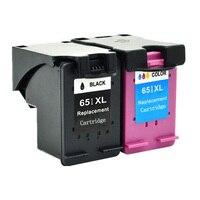 hp officejet 651 Ink Cartridge for HP 651 651 XL Ink for HP Deskjet 5575 5645 officejet 202 252 Printer (2)