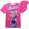 New ZOOTOPIA Cartoon Kids T-Shirt Children Clothing zootopia T Shirts Girls Short Sleeve Cotton t-shirts for Kids Girls boys