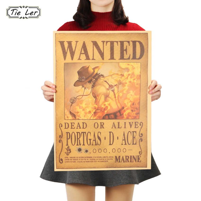 Плоский стикер на стену один кусок плакат мультфильм комикс Ace крафт бумага кафе бар Домашний декор живопись стикер на стену 51x36 см