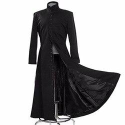 2019 la matriz Cosplay personalizado disfraz de Cosplay negro Neo abrigo único abrigo para mujer niñas niños unisex porque ropa