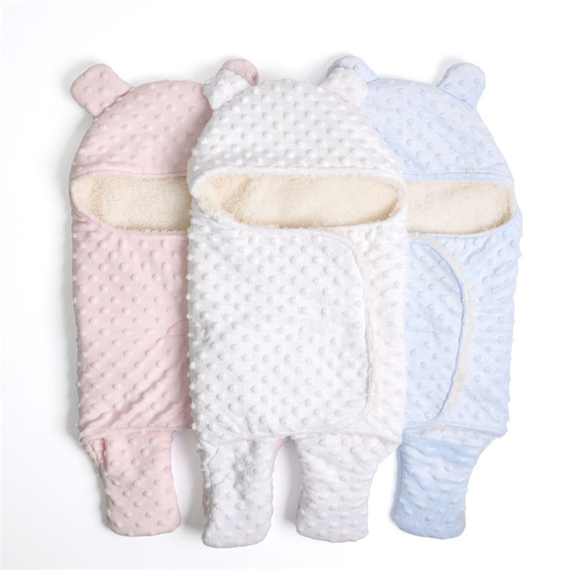Baby Blanket Infant Bebe Thicken Cotton Knitted Blankets Winter Baby Soft Warm Envelope Swaddling Blankets For Newborn Bedding