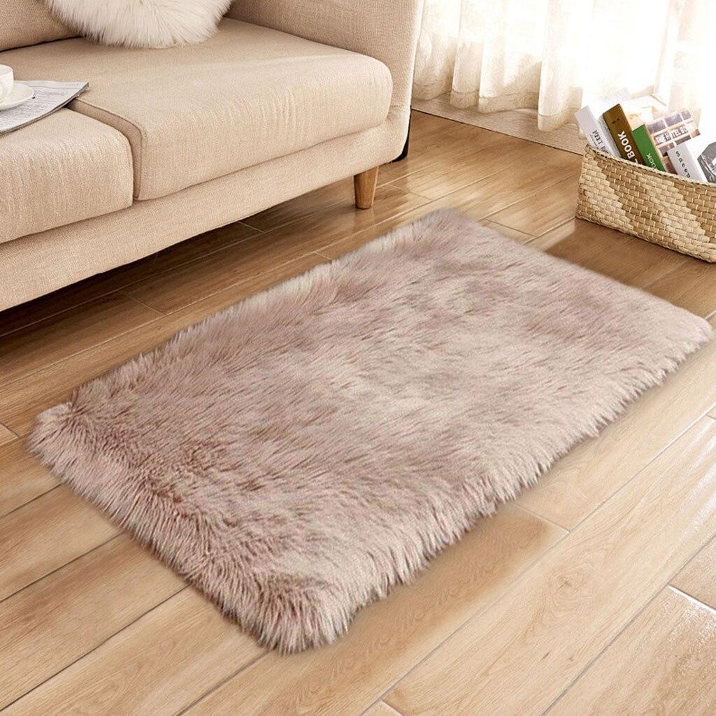 Soft Rug Chair Cover Artificial Sheepskin Wool Warm Hairy
