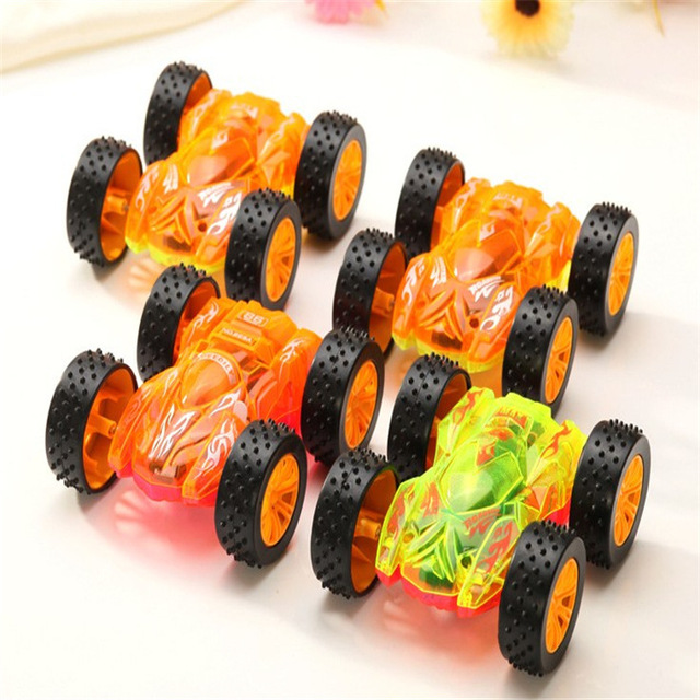 efhh 1pcs flashing two sided car vehicle puzzle kids toy childrens best gift include battery