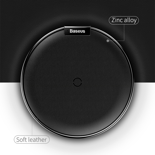 Cool Stuff Baseus Leather Qi Wireless Charger For iPhone X 8 Plus Samsung Galaxy Note 8 S8 S7 S6 Edge Desktop Fast Wireless Charging Pad 4