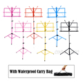 Colourful Sheet Folding Music Stand Metal Tripod Stand Holder With Soft Case with Carrying Bag Free Shipping Wholesales