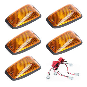 Image 2 - KEYECU 5pcs Cab Roof Running Marker light Amber Cover For 1988 2002 Chevy GMC Direct Replacement for fast feet or curved roofs