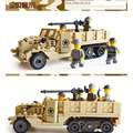 Siglo tropa aerotransportada militar ee. uu. modelo m2 half track figura juguete kazi building block ladrillo ky82003 compatible con lego