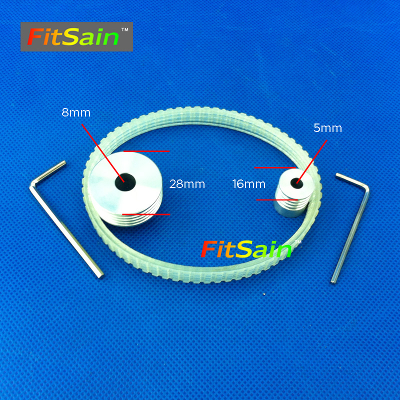 FitSain-Multi wedge PJ Belt pulley 4 slots  for motor shaft 5mm-8mm mini table electric saw sawing machines chainsaw fitsain 4 100mm electric saw blade wood cutter cutting disc used for motor shaft 5mm 6mm 8mm 10mm 12mm for adapter coupling