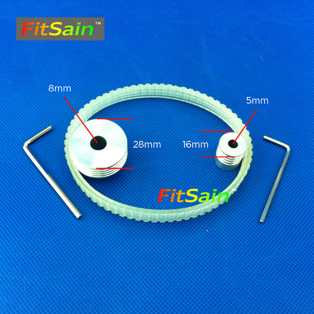 FitSain-Multi wedge PJ Belt pulley 4 slots  for motor shaft 5mm-8mm mini table electric saw sawing machines chainsaw