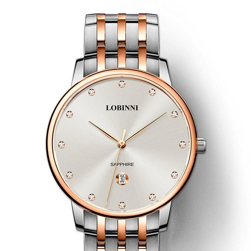 Switzerland Luxury Brand Wristwatches LOBINNI 7mm Ultra thin Quartz Watch Men Fashion Lovers Style Water Resistant Clock L3010M|Quartz Watches| |  - title=
