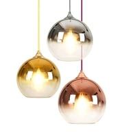 Modern Mirror Glass Ball Pendant Lights LED Globe Hanging Lamp Vintage Kitchen Home Lighting Fixtures Pendant Lamps Decoration