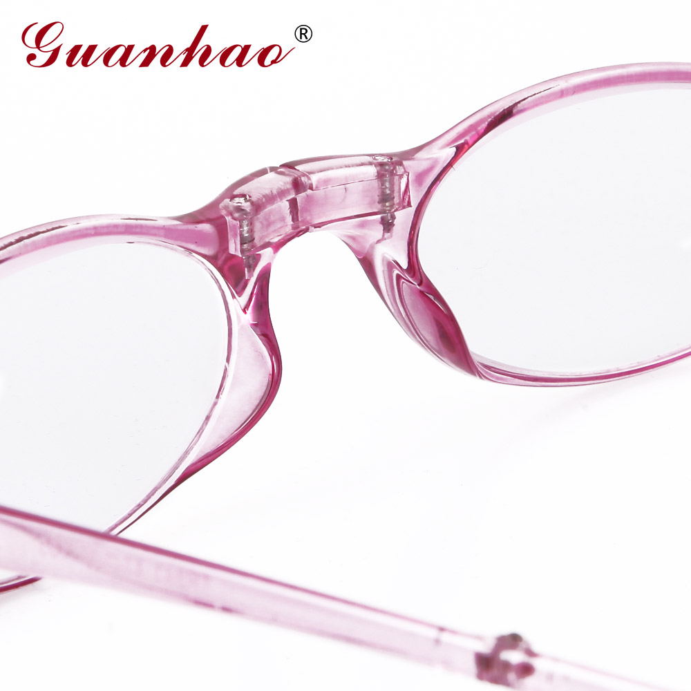 Guanhao Design Fashion Folding Reading Glasses Men Women Round TR90 - Apparel Accessories - Photo 4