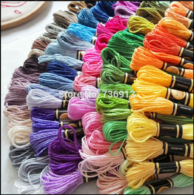 8 Meters Length / Embroidery Floss Thread / Cross Stitch Thread Floss---Free Shipping