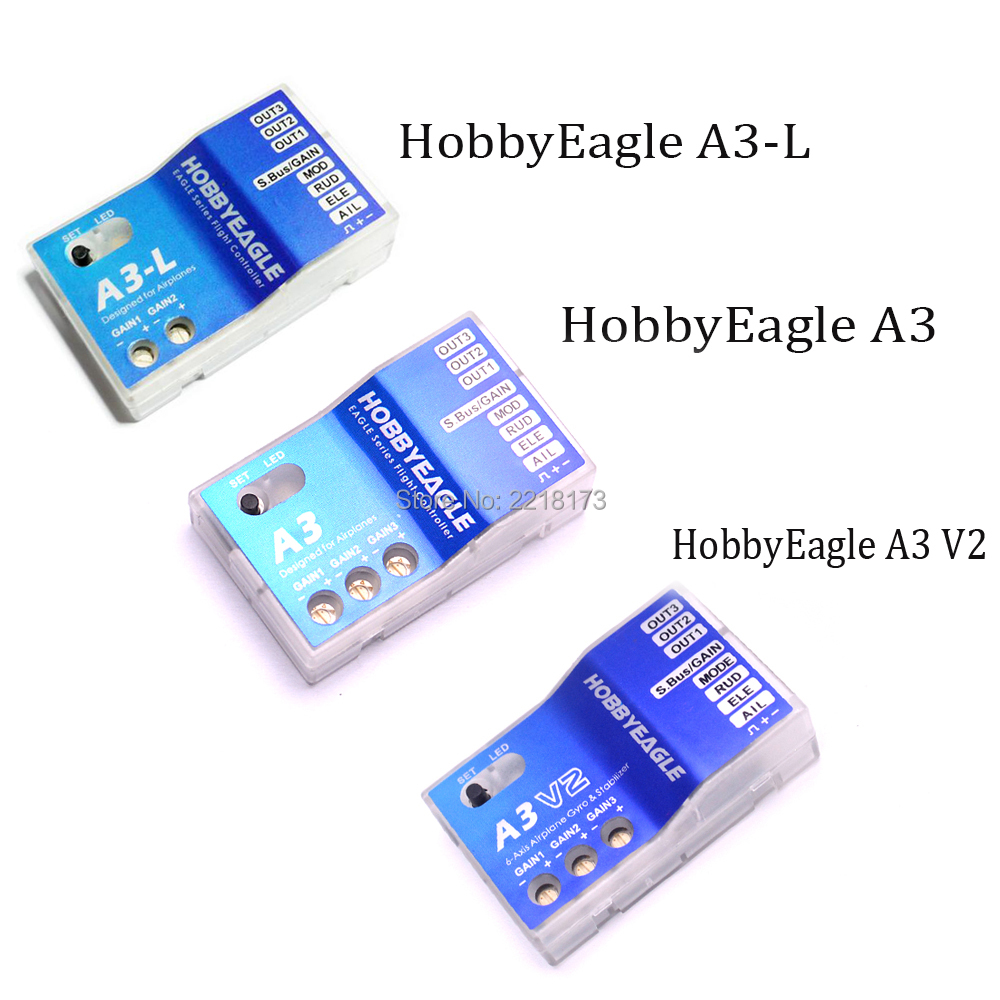 Hobby Eagle 3 Axis Gyro A3 V2 HobbyEagle A3 / A3-L Flight Controller Stabilizer for RC Airplane Fixed-wing Copter hobby eagle a3 l 3 axis airplane gyro flight controller stabilizer