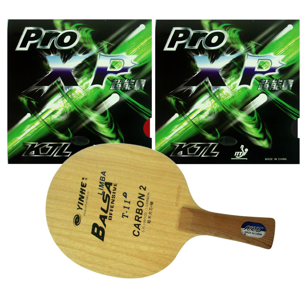 Pro Table Tennis PingPong Combo Racket Galaxy YINHE T 11 with 2 Pcs KTL Pro XP