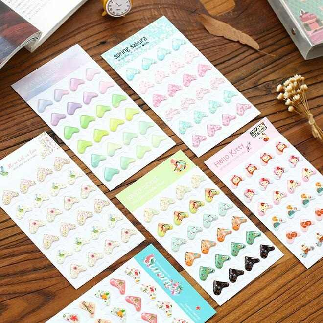 Etiqueta de Conner multifuncional de la serie 3D de Corea/herramientas de bricolaje para álbum/álbum de recortes deco etiqueta adhesiva/material escolar de oficina