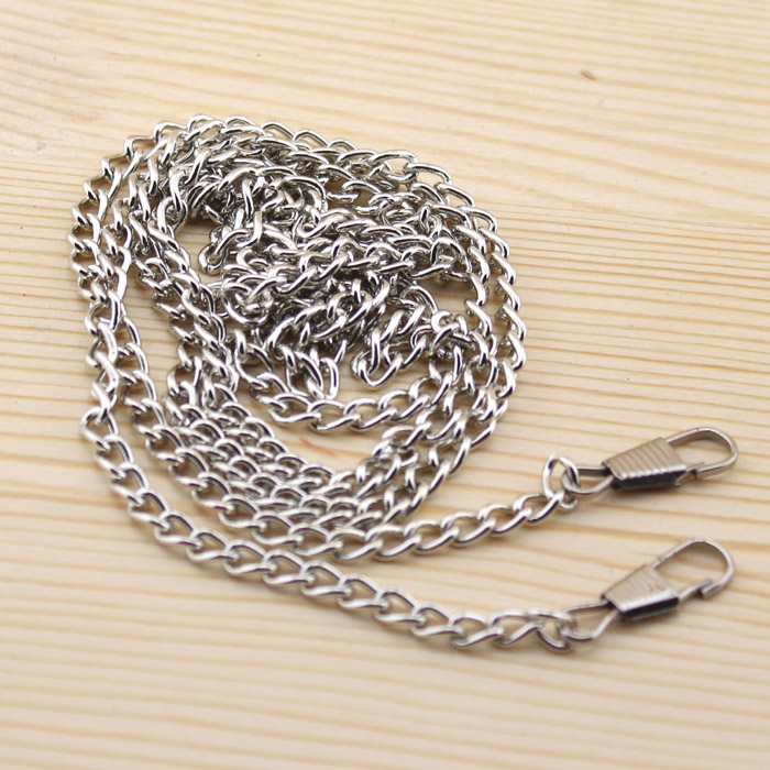 20pcs lot 1 120cm DIY Silver Color Metal Purse Frame Chains Straps Bag Sewing Sewer Craft