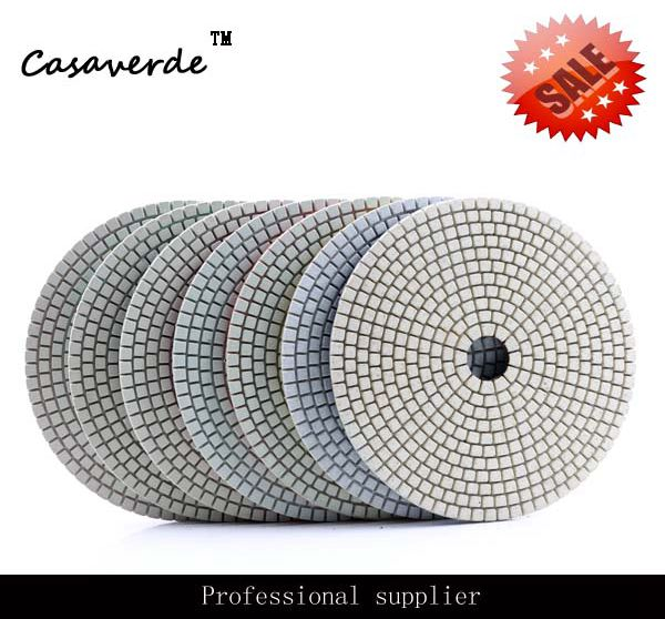 DC-AWSPP04 D150mm with 2.5mm 6 inch polishing pads dry and wet diamond polish pads for stone dc sfw3pp01 4 inch d100mm resin and diamond wet 3 step polishing pads for stone concrete