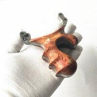 304 нержавеющая сталь, деревянная заплата косой ручка ручной работы дважды отверстие конкурентоспособная рогатки