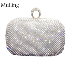 New Brand Fashion Real Diamond Dinner Package Evening Women Wallet Party Purses Bride Hand Bags Lady