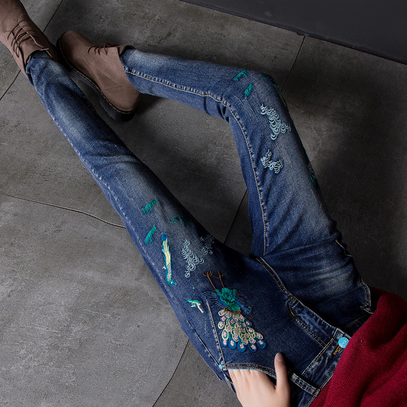 2018 Brand New Hot Fashion High Waist   Jeans   Women Pencil Pants Sexy Slim Elastic Skinny Trousers Fit Lady
