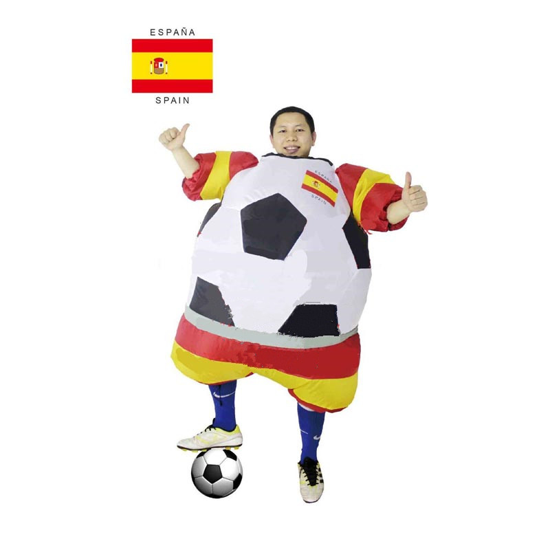 free shippin new soccer inflatable costume football for halloween party mascot fancy blow up dress carnival inflatable ball suit in anime costumes from - Halloween Costume Football