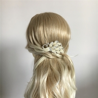 Peacock Hair Comb Wedding Hair Accessories Rice Pearl Bride Jewelry Bijoux Femme Cheveux Mariage Tocados Para