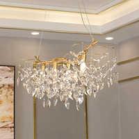 Luxus gold kristall kronleuchter lampe hause dekoration beleuchtung glanz cristal hängen kronleuchter bar licht