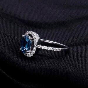 Image 3 - Mücevher bale 1.58Ct rüya doğal londra mavi topaz taş yüzükler kadınlar güzel takı 925 ayar gümüş moda yüzük
