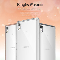 Ringke Fusion For Xperia Z5 Premium Case Crystal Hard PC Back Cover Flexible TPU Frame Mobile